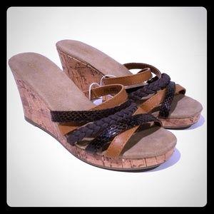 Old Navy Cork Healed Wedge Sandals, NWT